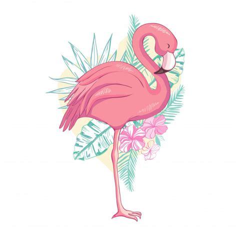 Pájaro flamenco | Vector Premium