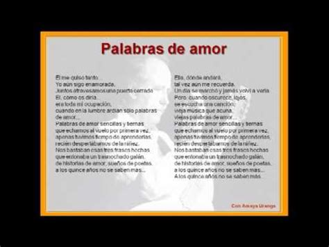 Palabras de Amor   Amaya Uranga y Joan Manuel Serrat ...
