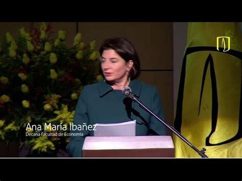 Palabras de Ana María Ibáñez, oradora invitada.   YouTube