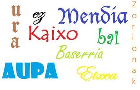 Palabras y frases en euskera básicas. | Idiomas Amino