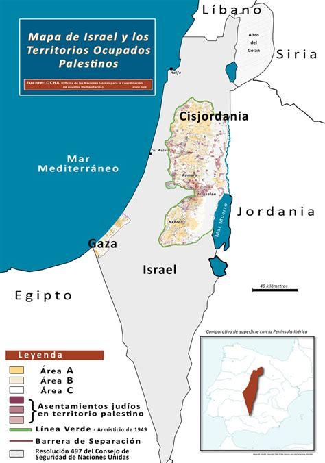 Palestina Israel2009: Mapa de Israel y Palestina