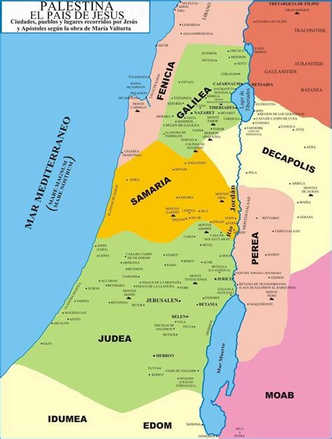 palestina | Palestina, siglo I | Palestina, Mapa politico ...