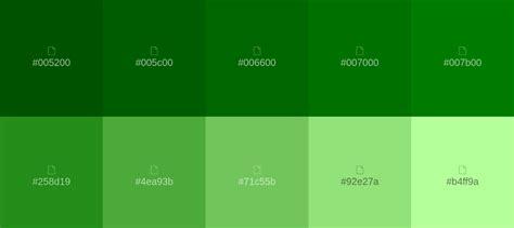 Paleta de colores verde   Paleta de color verde, Color ...