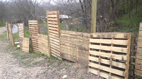 Pallets fence vertical gardens   YouTube