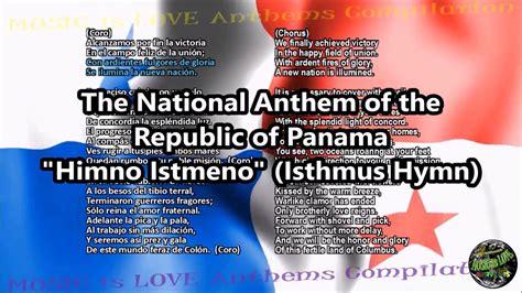 Panama National Anthem  Himno Istmeno  with music, vocal ...