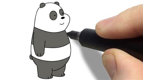 Panda Ursos Sem Curso Desenho Passo a Passo   YouTube