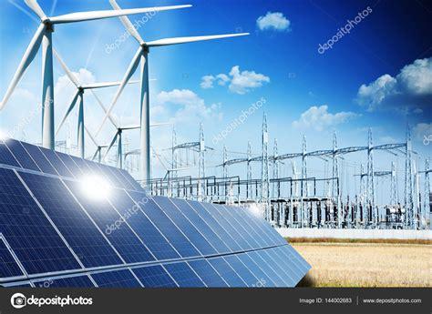Paneles solares energia eolica | Concepto de energía ...