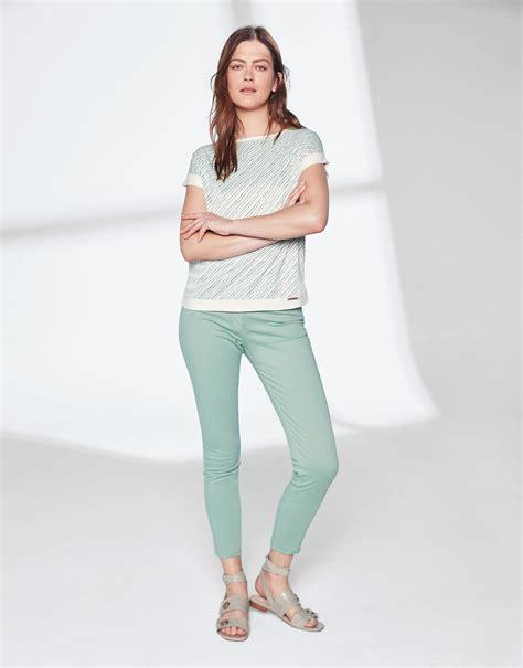 Pantalón verde pastel bajo desflecado   Mujer | Roberto Verino