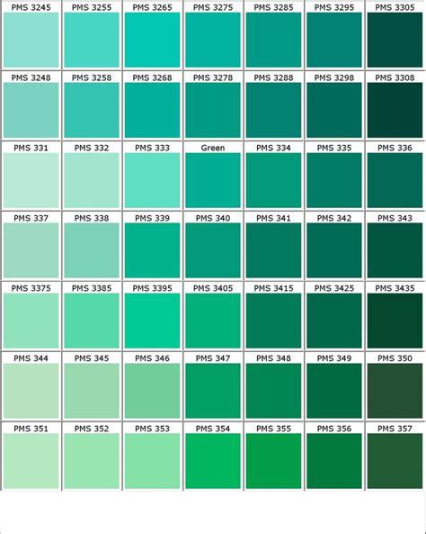 Pantone verde | Tipos de verde, Esquemas de color verde y ...