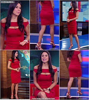 Paola Rojas Culo Vestido Rojo   Coolostv.com