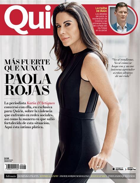 Paola Rojas en portada de Quién