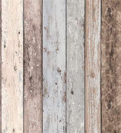 Papel pintado imitación madera decapada estilo vintage ...