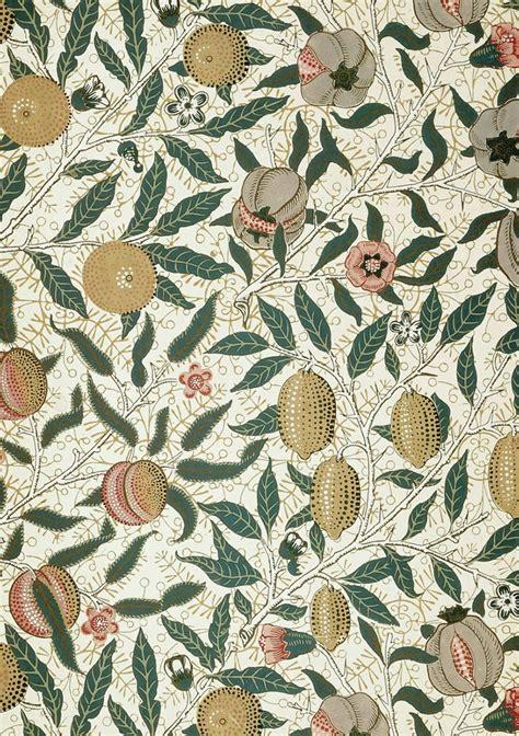 Papel tapiz de frutas, diseño de William Morris. | William ...