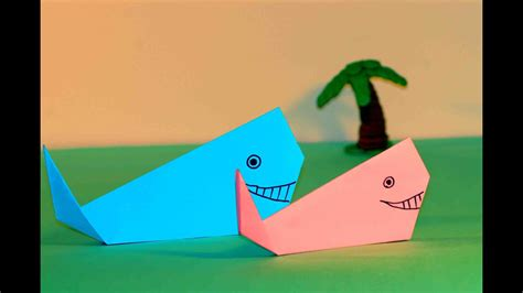 PAPER CRAFTS FOR KIDS Easy origami for kids ORIGAMI WHALE ...