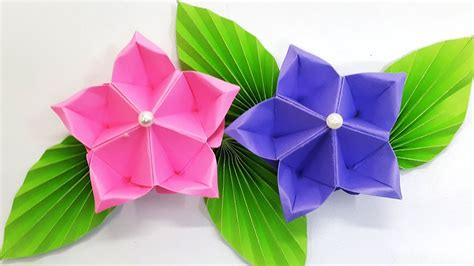 Paper flower tutorial  Origami Flower    Amazing and easy ...