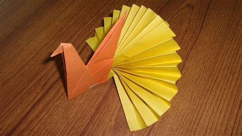 Paper Peacock Making   Easy Origami Paper Crafts for Kids ...