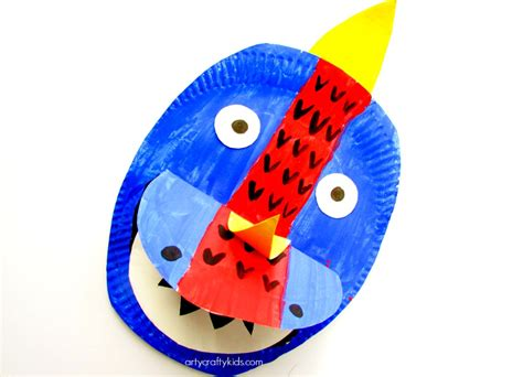 Paper Plate Dinosaur   Arty Crafty Kids