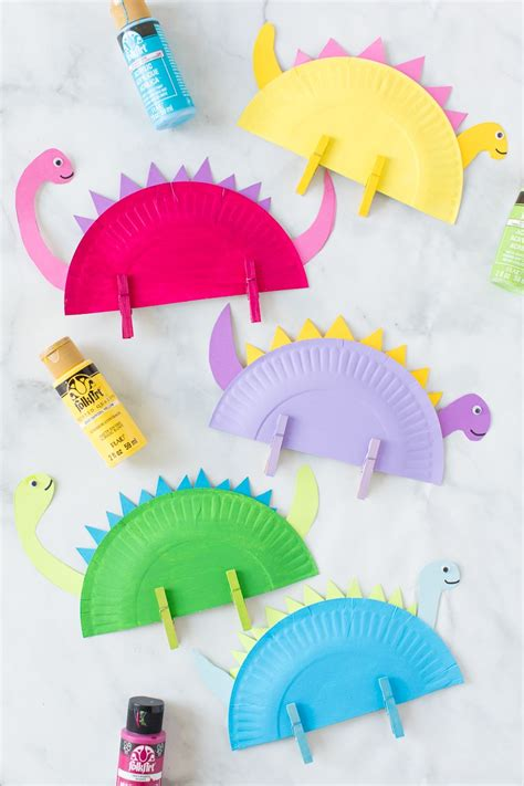 Paper Plate Dinosaur Craft   Made To Be A Momma
