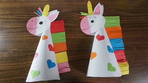 Paper unicorn crafts for kids || paper craft art   YouTube