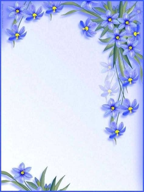 papier a lettre | Flower frame, Borders for paper, Floral ...
