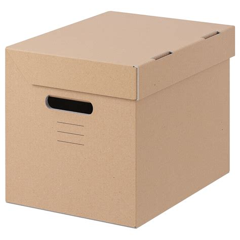 PAPPIS Box with lid   brown   IKEA