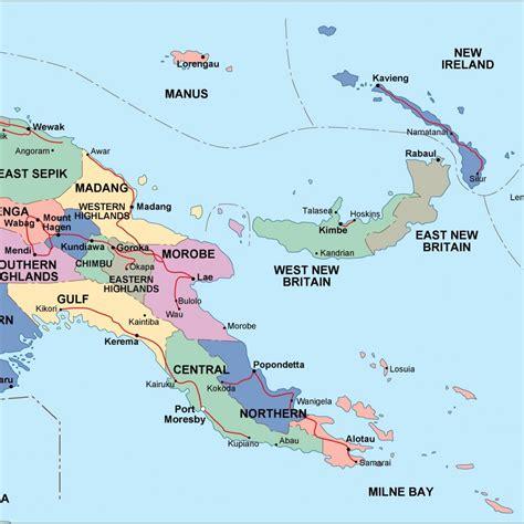 papua new guinea political map. Eps Illustrator Map ...