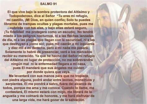 Para pedir cuidado y protección el Salmo 91. | Espiritual ...