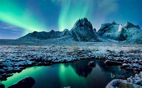 Parc territorial Tombstone Canada Aurora 2016 Bing Fond d ...