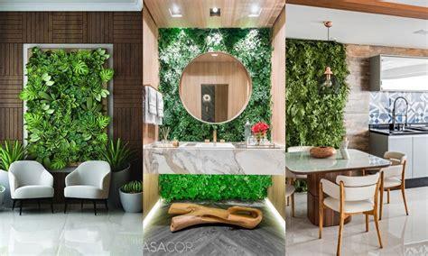 Pared vegetal en decoración de interiores   Jardines ...