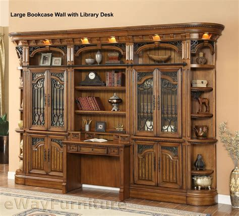 Parker House Barcelona Library Wall Hutch and Desk ...