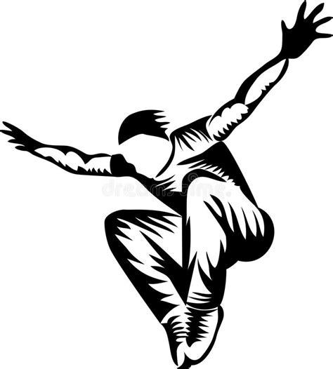 Parkour   freerunning stock vector. Illustration of stunt ...