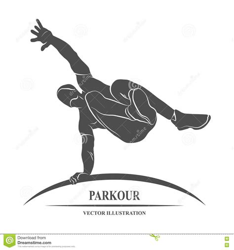 Parkour Jump Silhouette stock vector. Illustration of ...