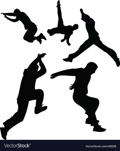 Parkour silhouettes Royalty Free Vector Image   VectorStock