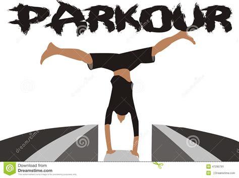 Parkour Vector stock illustration. Image of holistic ...