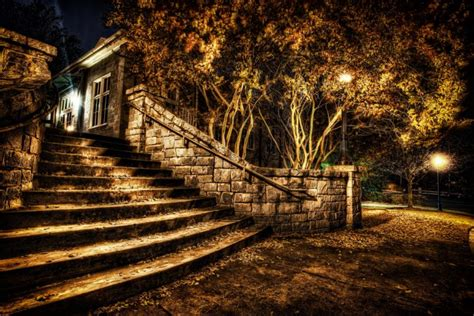 Parks Autumn Stairs Night HDR Nature wallpaper   3264x2176 ...
