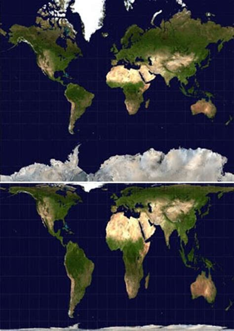 Parte de mí...:  Mercator vs Peter  Dos Mundos Distintos...