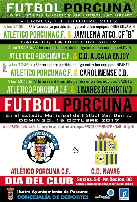 Partidos de fútbol para este fin de semana « Porcuna es ...