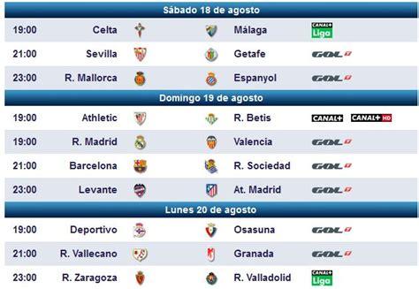 Partidos De Futbol Televisados Hoy Liga Española ...