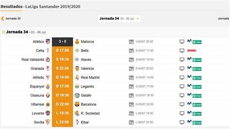 Partidos de hoy, 4 de julio, en LaLiga y en Segunda ...