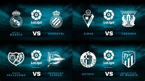 Partidos de la Liga Santander del 22 de septiembre
