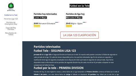 Partidos de Segunda Hoy Televisados | Liga 123   YouTube