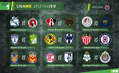 Partidos, fechas, horarios y dónde ver la Liga MX; Jornada 1
