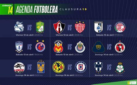 Partidos, fechas, horarios y dónde ver la Liga MX; Jornada 14