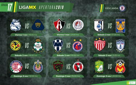 Partidos, fechas, horarios y dónde ver la Liga MX; Jornada 17
