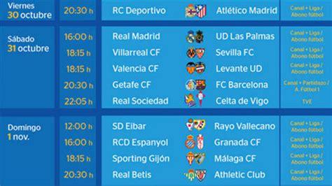 Partidos y horarios de la jornada 10 de la Liga BBVA | 90min