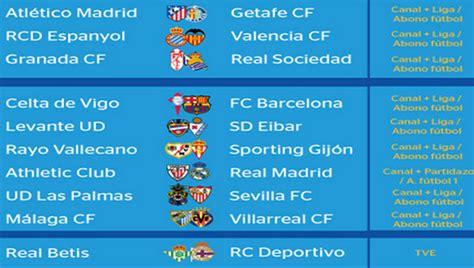 Partidos y horarios de la jornada 5 de la Liga BBVA | 90min