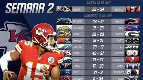 Partidos y resultados de la NFL 2018: Semana 2   AS USA