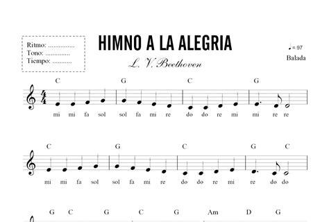 Partitura   Himno a la Alegria | piano | Pinterest ...