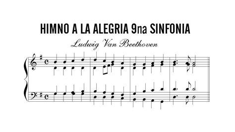 Partitura: Ludwig Van Beethoven   Himno a la Alegria 9na ...