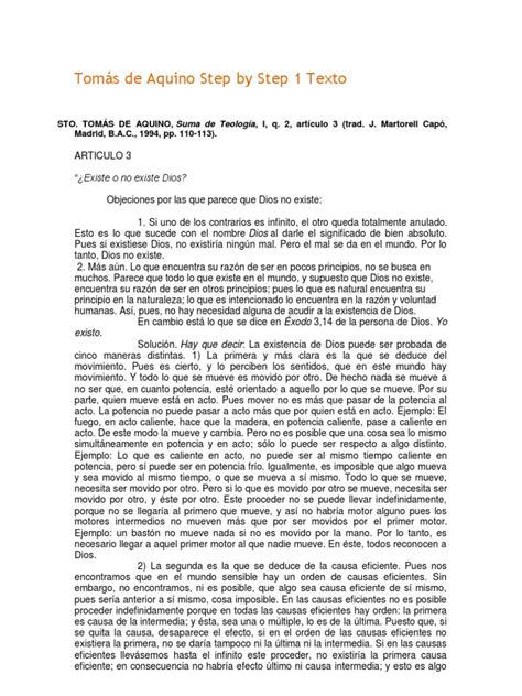 PASO 1. Santo Tomás de Aquino  texto  | Thomas Aquinas | God